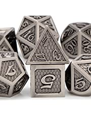 RUNFNG Metal DND Dice Set for Dungeons and Dragons Dice, D+D D&D Dice Set with Gift Box, D and D Polyhedral Dice Set for RPG Role Playing Game MTG D20 D12 D10 D8 D6 D4
