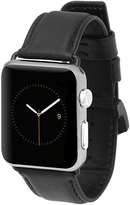 Case-Mate - Apple Watch Band - 42mm 44mm SIGNATURE LEATHER - Apple Watch Band - Apple Watch Series 1, 2, 3, 4, 5 - Black