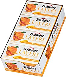 Trident Layers Sugar Free Gum (Orchard Peach & Ripe Mango, 14-Piece, 12-Pack)