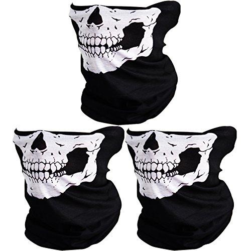 CIKIShield Couples Seamless Skull Face Tube Mask Black -