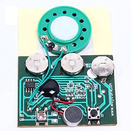 30 segundos grabable Sensor de luz activada adhesivo música ...