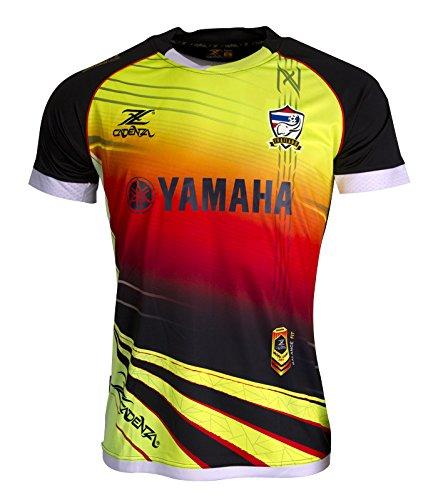 Camiseta de fútbol de Tailandia cz207 Noir-Jaune-Rouge Negro Medium