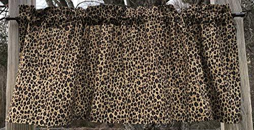 - Cheetah Leopard Cat Wildlife Animal Handcrafted Custom Sewn Valance NEW a2/8