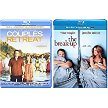 Couples Retreat & The Break-up Vince Vaughn Double Feature Blu Ray Fun Comedy movie Set Combo Pack