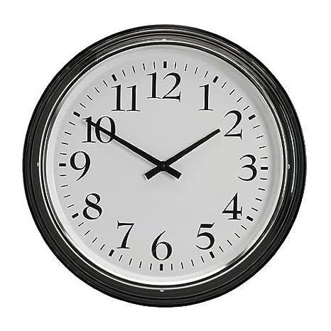 IKEA - BRAVUR reloj de pared, negro (D: 57,15 cm)