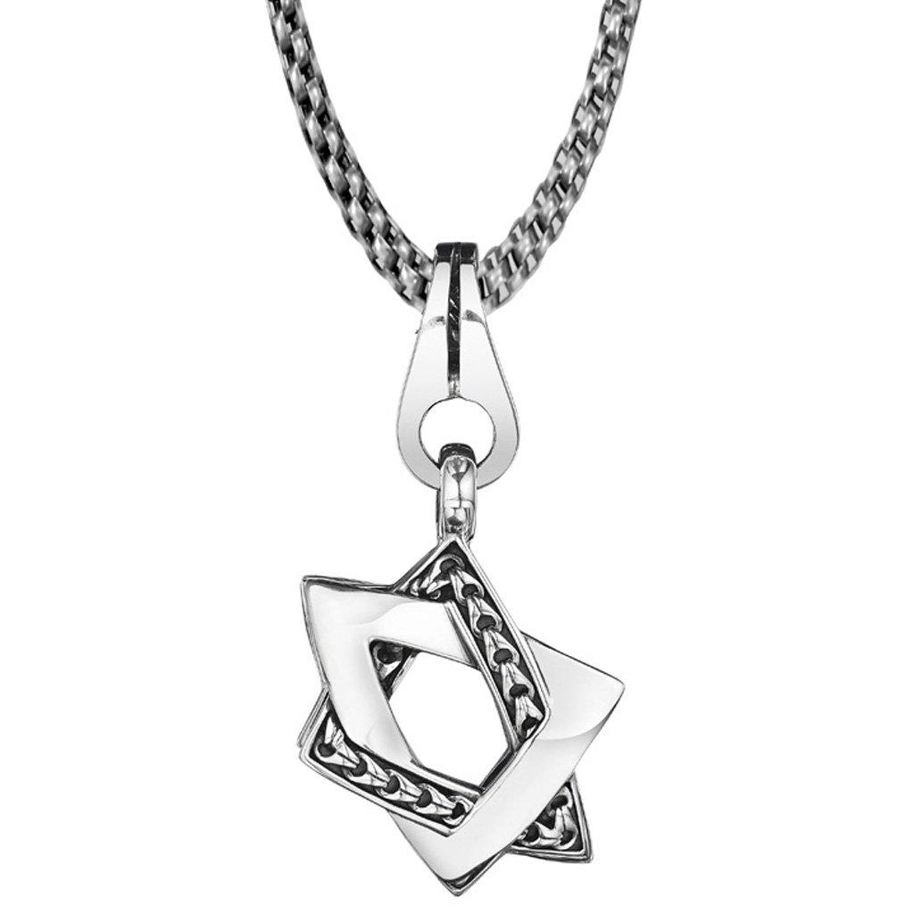 Di Modolo Mens Centauro Small Sterling Silver Star of David Pendant