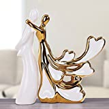 Father's Day Gifts Ceramic Crafts Home Crafts Plating Couples Valentine's Day Gifts (Color : Gold)