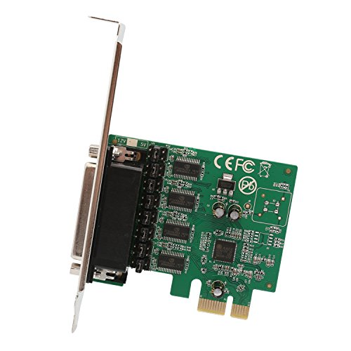 IO Crest SI-PEX15056 4 Port DB9 Serial RS-232 Card PCI-Express x1 with Fan-Out Cable Asix99100 Chipset ()