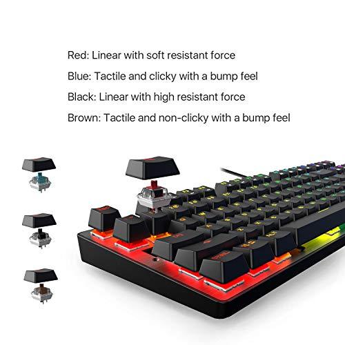 DREVO Tyrfing V2 87Key RGB Backlit Mechanical Gaming Keyboard Tenkeyless Programming Macro Media Control Software Support Outemu Linear Red Switch Black by DREVO (Image #5)