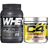 Cellucor C4 Ripped Pre Workout Powder + Fat Burner, Cherry Limeade, 30 Servings + Cellucor Cor-Performance Whey Protein, Molten Chocolate, 2lbs