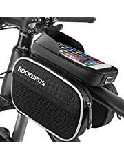 BTNEEU Bike Frame Bags Front Top Tube, Bicycle Bag Waterproof Bike Phone Bag Cycling Front Frame Bag for iPhone XS Max/8 Plus/7 Plus/Samsung Note8/S9/S10 Below 6.5 inch Smartphones