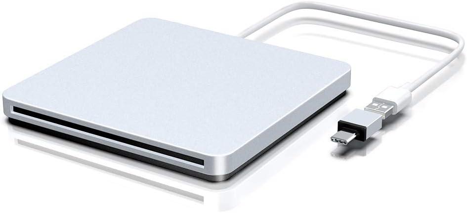 BENGOO External CD DVD Drive, USB Type C Ultra Slim Portable Drive CD DVD-RW DVD/CD ROM Burner Writer Rewriter Superdrive Compatible with Mac MacBook Pro Air Laptop Desktop PC Windows Linux OS