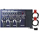 BOSS ME-50B Bass Multi Effects Pedal w/ Power Supply and (2) 10\' Guitar Cables