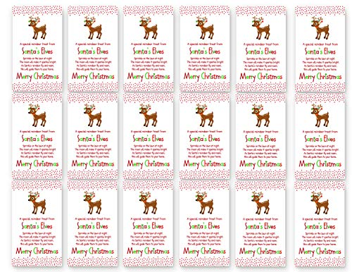 18 Christmas Reindeer Gift Tags - Kids Holiday Party Favors ()
