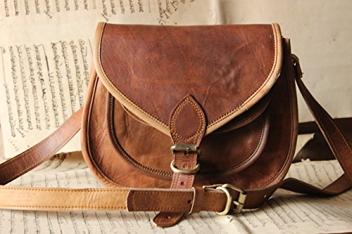 Handmade Craft 9'' X 7'' Brown ,Genuine Leather Women's Bag /Handbag / Tote/purse/ Shopping Bag by Handmadecraft