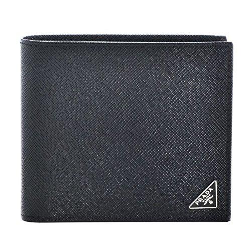 PRADA(プラダ) 型押しカーフスキン メンズ 二つ折り財布 2MO738 QHH 002 [並行輸入品] B01N26NGX8
