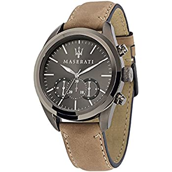 Maserati Mens R8871612005 Analog Display Quartz Brown Watch