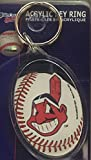 CLEVELAND INDIANS Team Colors & Logo (4 Inch) Acrylic KEY CHAIN