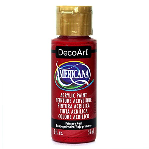 DecoArt Americana Acrylic Paint, 2-Ounce, Primary Red (True Red Apple)