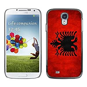 Shell-Star ( National Flag Series-Albania ) Snap On Hard Protective Case For Samsung Galaxy S4 IV (I9500 / I9505 / I9505G) / SGH-i337