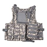 Camouflage Cosplay of Counter Strike amphibious combat vest vest stab-resistant clothing CS equipment (ACU Camouflage)
