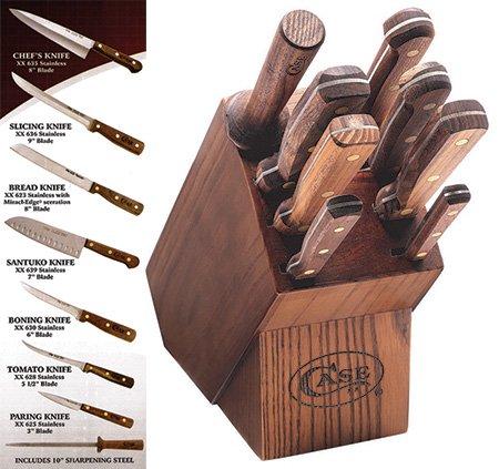 Case Cutlery CASE10249 Kitchen 9 Piece Knife Set Walnut