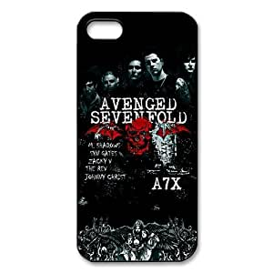 Avenged Sevenfold Iphone 5 5S Case Cover CTSLR Music & Band Series Popular Ax7