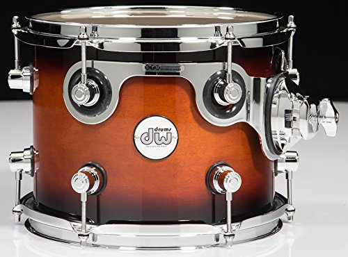 DW Design Series Floor Tom Tobacco Burst with Chrome Hardware 8 x 7 in. by DW