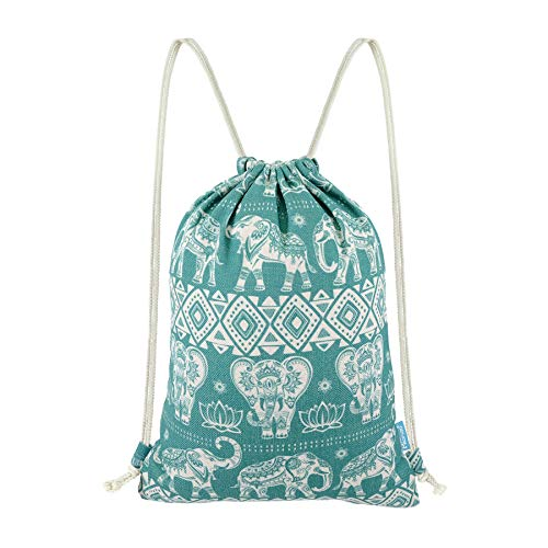 Miomao Gym Sackpack Drawstring Backpack Elephant Cinch Pack Geometric Sinch  Sack With Pockets Sport String Bag 01bc8c311