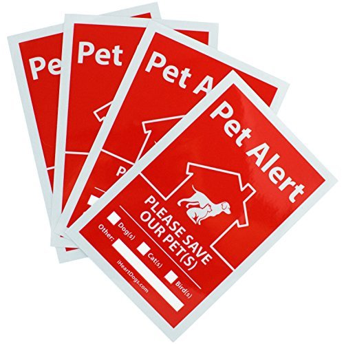 Facts Family Sticker - Reflective Pets Inside Alert Stickers by iHeartDogs | UV Fade Resistant 4-Pack | This Product Feeds 4 Shelter Dogs