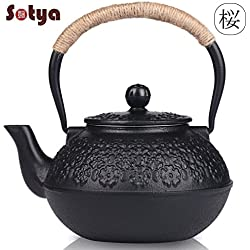 Cast Iron Teapot, Sotya Tetsubin Japanese Tea Kettle with Infuser (1200ml/40oz)