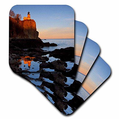 (3dRose CST_91374_1 Split Rock Lighthouse, Two Harbors, Minnesota US24 CHA0071 Chuck Haney Soft Coasters (Set of 4))