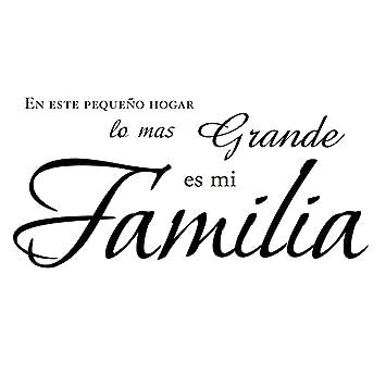 Vinilos Decorativos Familia Casa Salón Kililaya Pegatinas Frases Diy