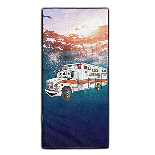 Monster Truck Driver Halloween Costume (Cartoon Orange And White Ambulance Decorative Kitchen Towels Perfect Vintage Modern Funny For Thanksgiving And Christmas Gifts)