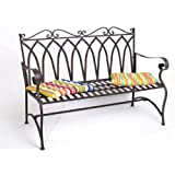 Panca da giardino ROMA Panca in metallo Panca-seduta ferro Panca 2 posti Mobile da giardino Nostalgie