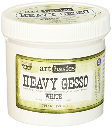 Prima Marketing Art Basics Heavy Gesso, 17-Ounce, White (Best Gesso For Art Journaling)