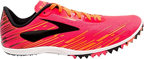 (Brooks Women's Mach 18 Spikeless Track and Field Shoes (8.5, Pink/Orange))
