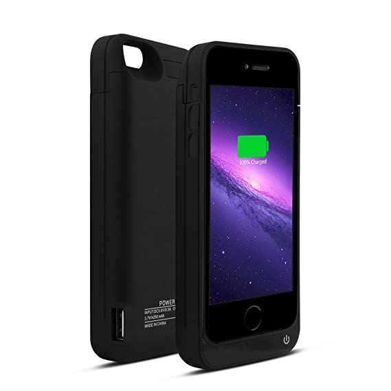 finest selection 9c4ca efa37 YHhao for iPhone 5s Charger Case, iPhone 5 Battery case , 4200mah External  Battery Bank with Kick Stand for Apple iPhone 5s/5/5c, Full Body Protection  ...