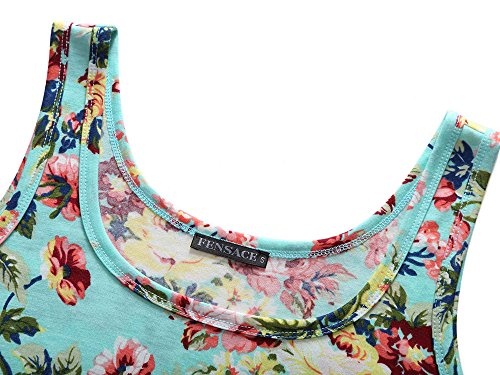 Sleeveless 18016 Line Women's 16 Dress FENSACE Summer Floral A 0p6tqxwnOA
