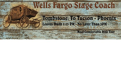 Wells Fargo 5 5 X 17 All Wood Wooden Sign 1 Inch Thick Pine Wood