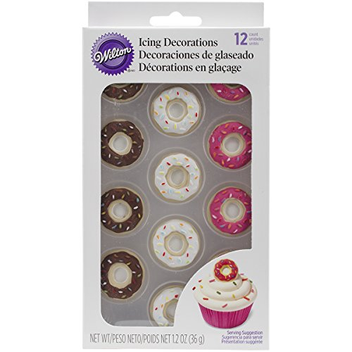 Wilton 710-6009 12 Count Donut Icing Decorations, (Icing Decorations)