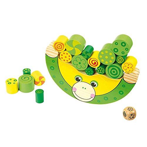 Balancierspiel Frosch mit Würfel, schult die Konzentration und Feinmotorik, für Kinder ab 3 Jahren