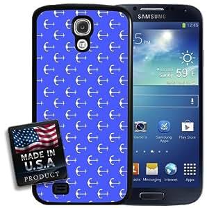 Blue Anchor Nautical Pattern Print Galaxy S4 Hard Case
