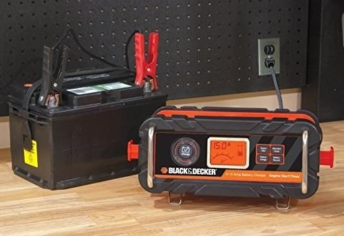 Price comparison product image BLACK+DECKER BC15BD 15 Amp Bench Battery Charger with 40 Amp Engine Start and Alternator Check