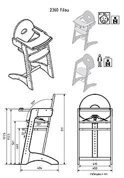 GEUTHER Chaise Haute Filou Naturelle 91 cm
