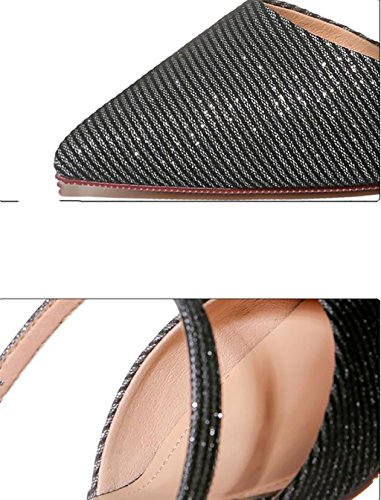 Baotou B Size half sandals high lazy sandals Sandals Fashion sandals and slippers heel stylish slippers female B wear Color summer shoes fine Flat 39 rrqg1UwS