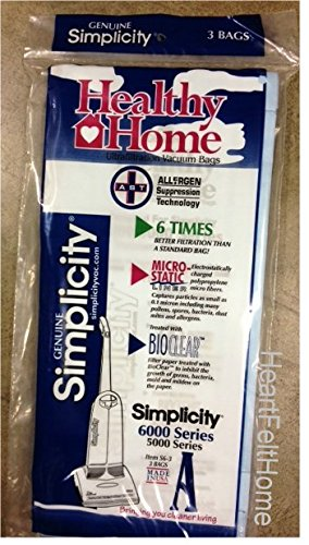 Genuine Simplicity  Type A Ultrafiltration Bags - S6-3 - 3 Bags. for 6000 Series Or 5000 Series