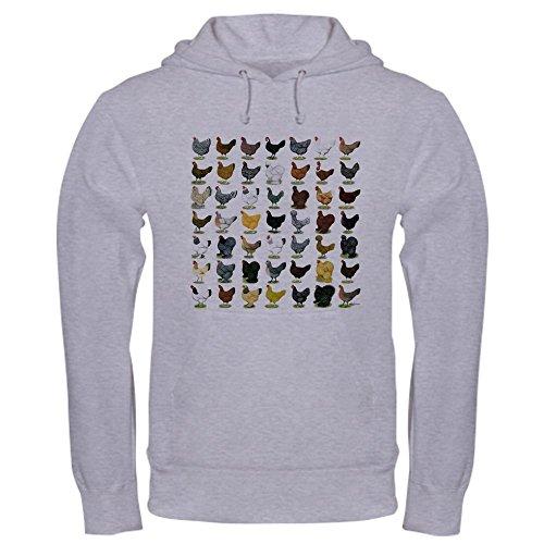 CafePress 49 Hen Breeds Pullover Hoodie, Classic & Comfortable Hooded Sweatshirt Heather Grey (Best Egg Laying Breeds)