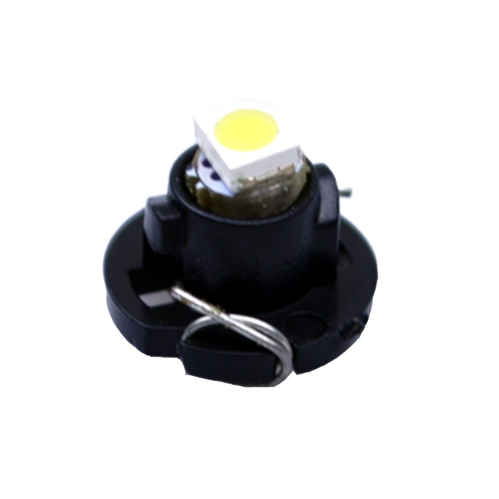 FLYPIG 10pcs white T4.2 Neo Wedge A//C Climate Cluster LED Light Bulb 5050-SMD 10mm for 2001-2011 Dodge RAM 1500 2500 3500