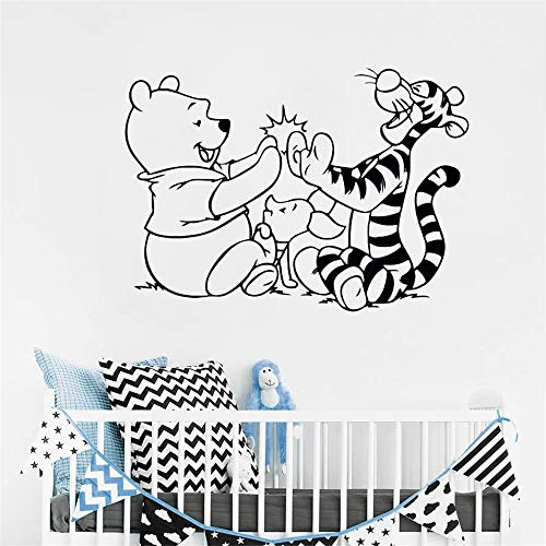 Winnie The Pooh Wall Decal Tigger Piglet Cartoon Vinyl Sticker Removable Kids Room Decor Babys Bedroom Wall Vinyl Decals